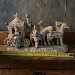 Cinderella Horse Carriage Occupied Japan Porcelain